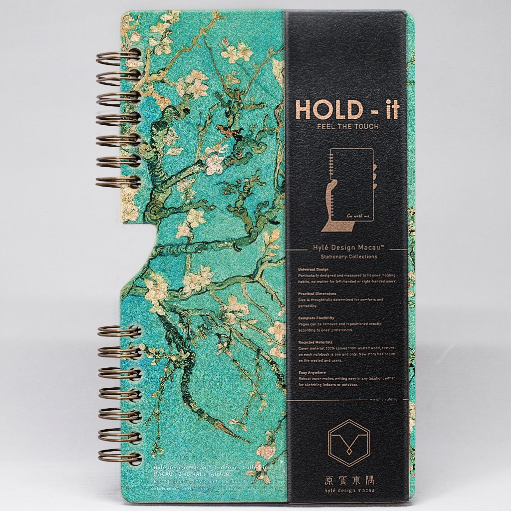 HOLD-it Wooden Notebook Blossom