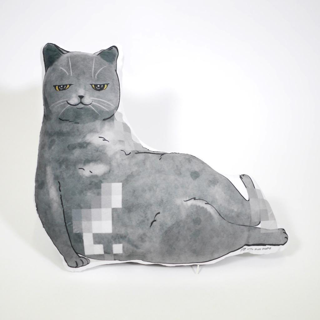 貓抱枕 Cushion-British Blue