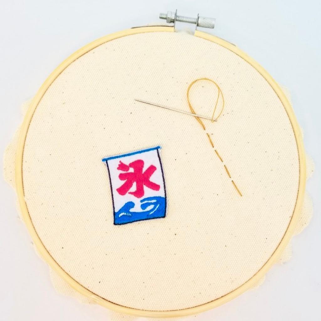 【刨冰店旗仔襟章】(日本篇)自家設計刺繡布章 日本小物 I005P