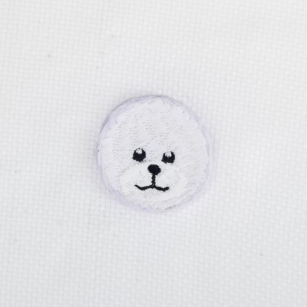 【比熊襟章】狗狗刺繡 刺繡布章 襟章 禮物  I060P