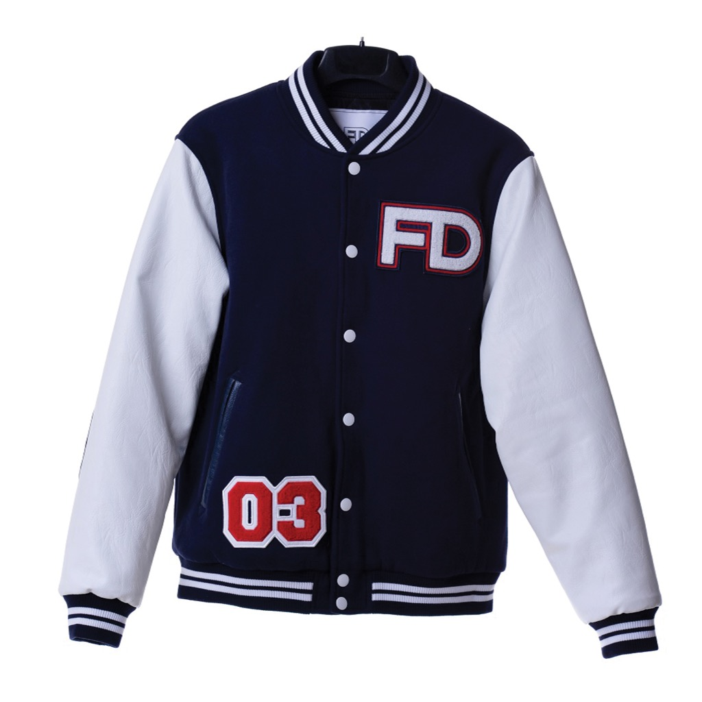 Fool's Day Baseball Jacket Blue