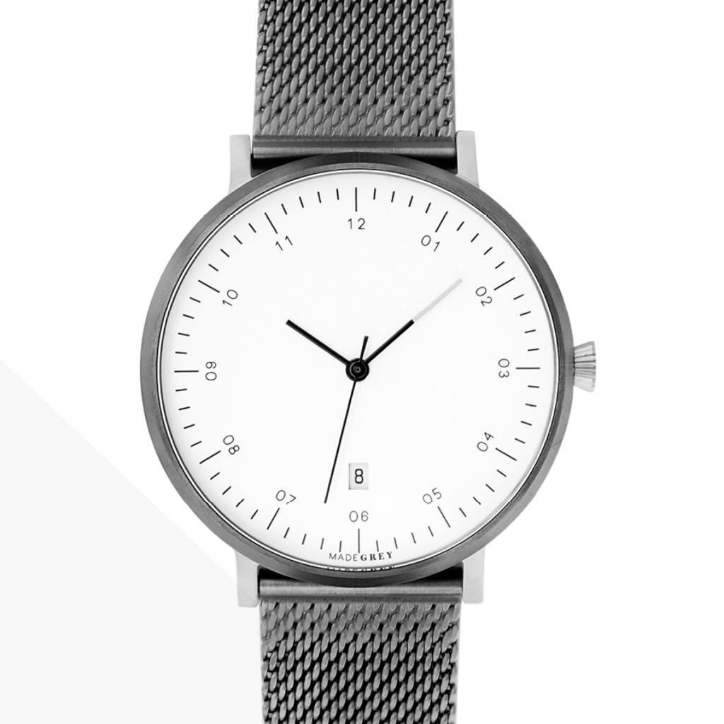 灰x銀色 MG001 手錶
