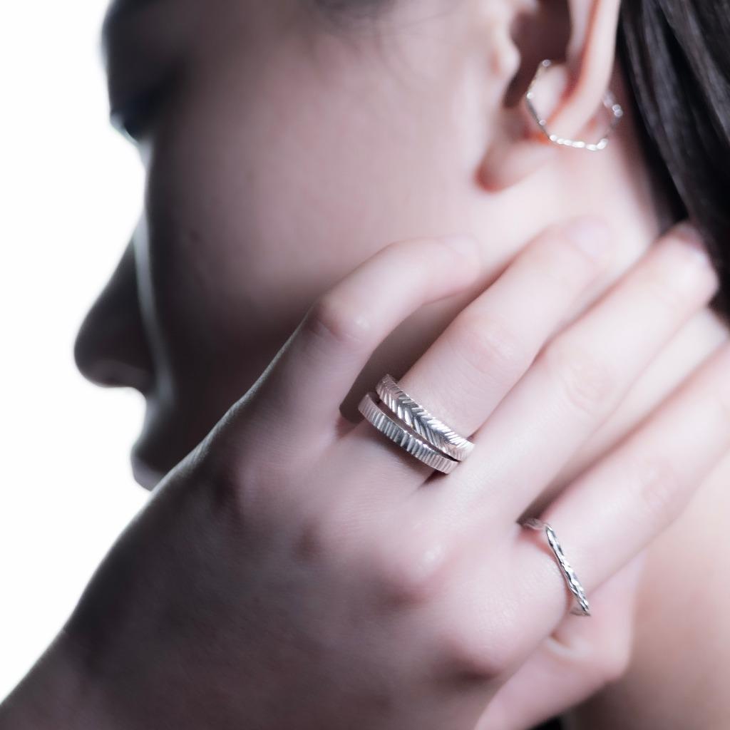 Druzy 系列 - 箭  925 純銀戒指