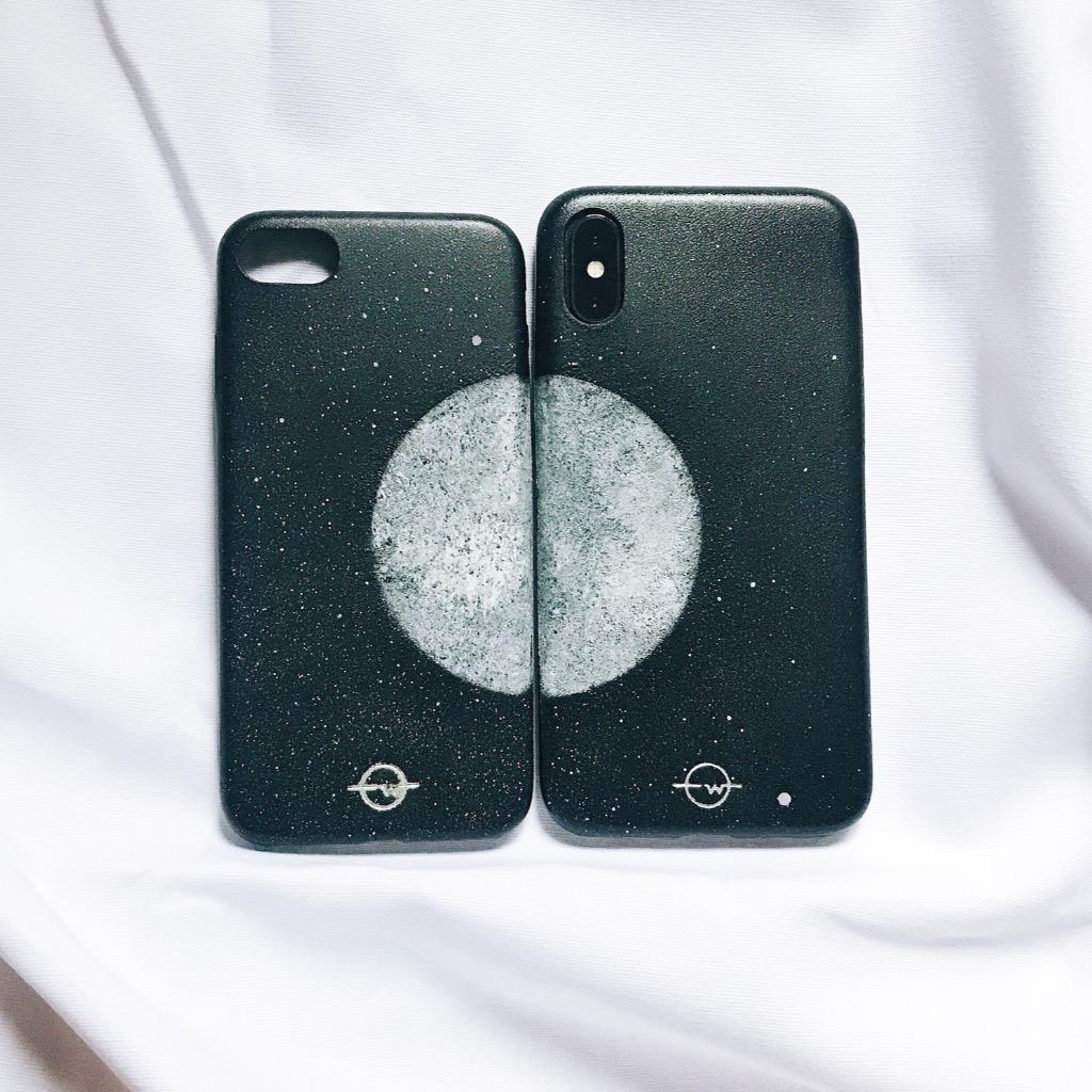 【相遇一半】月球 電話殻 / Moon Couple IPhone Case