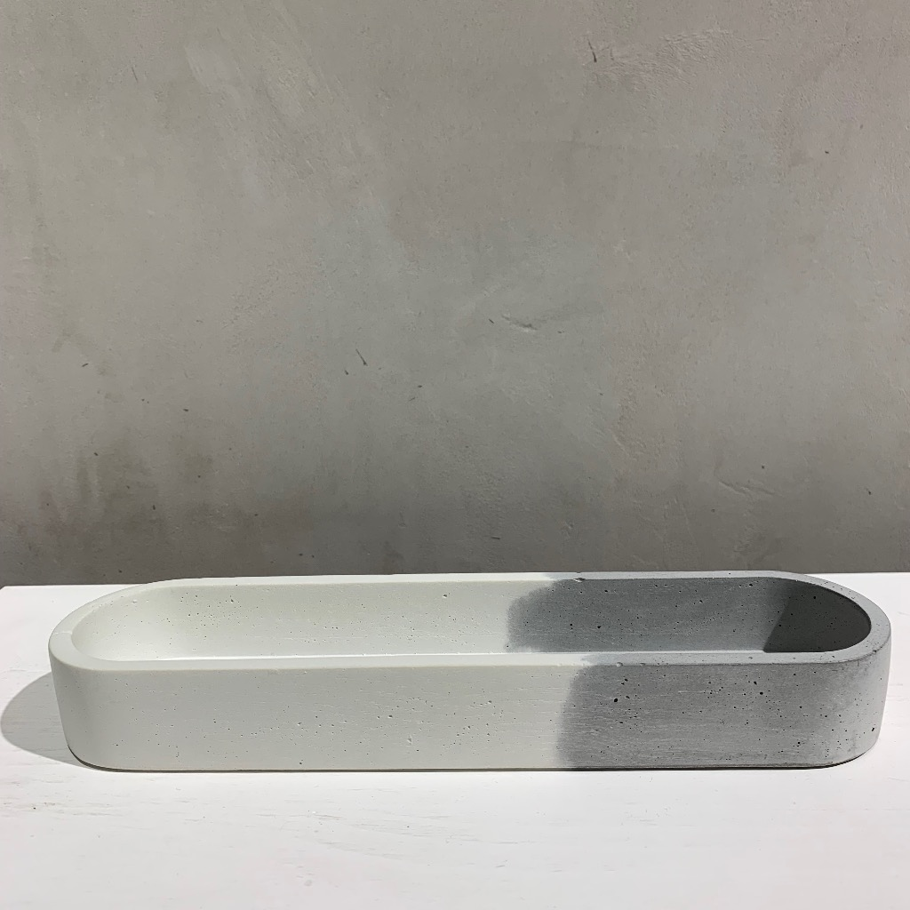 水泥置物皿 | 椭圆形(小) | 雙-對