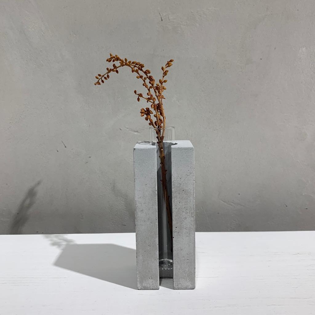 水泥花瓶   小型   正方   灰