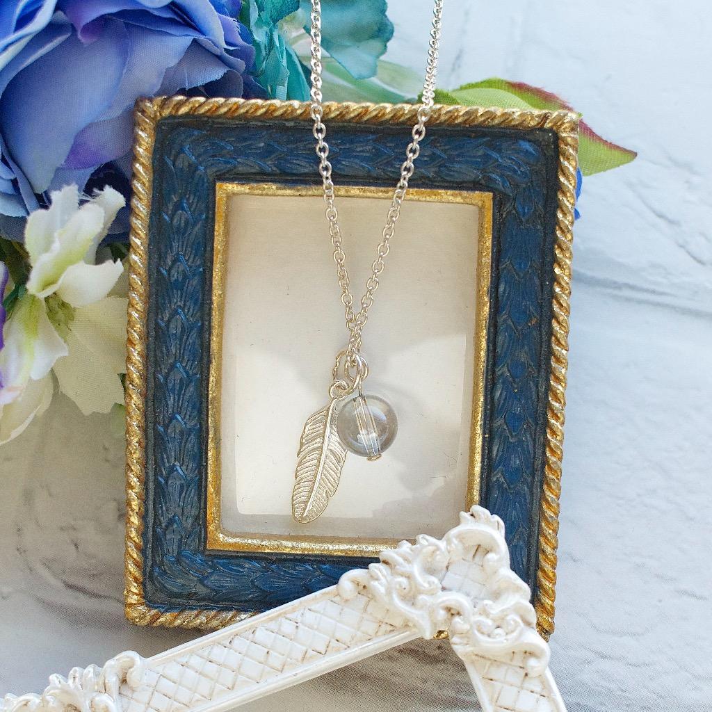 施華洛世奇藍水晶球項鍊 禮物訂製