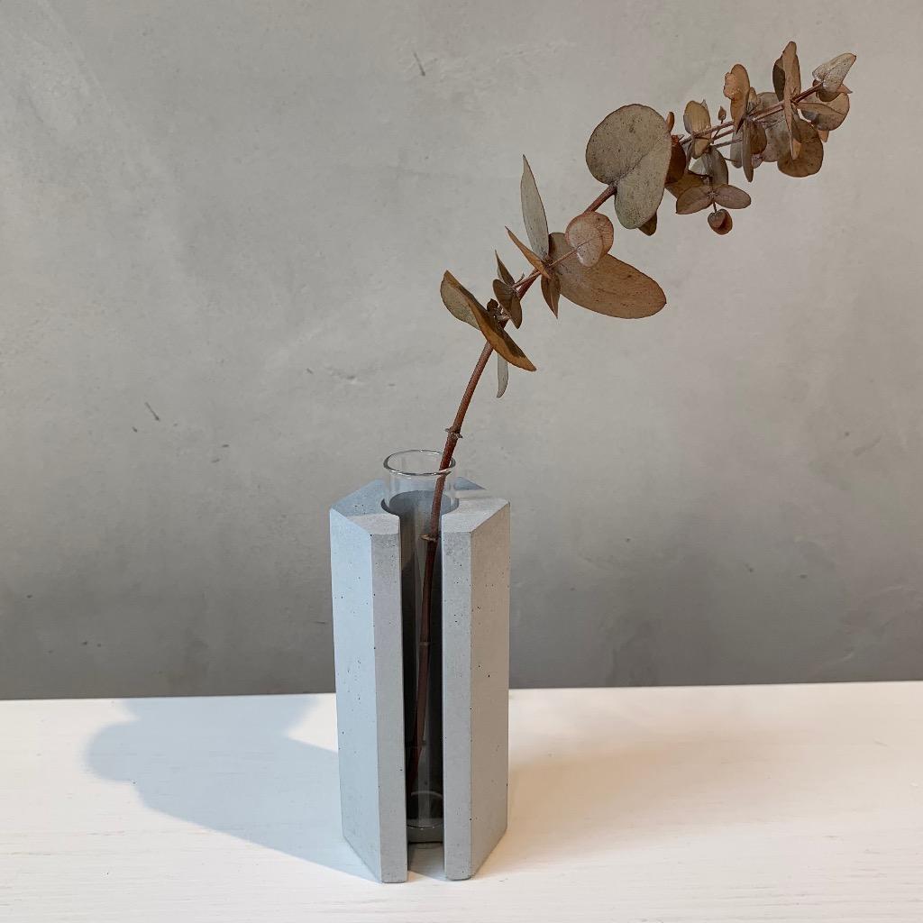 水泥花瓶 | 小型 | 六角 | 灰