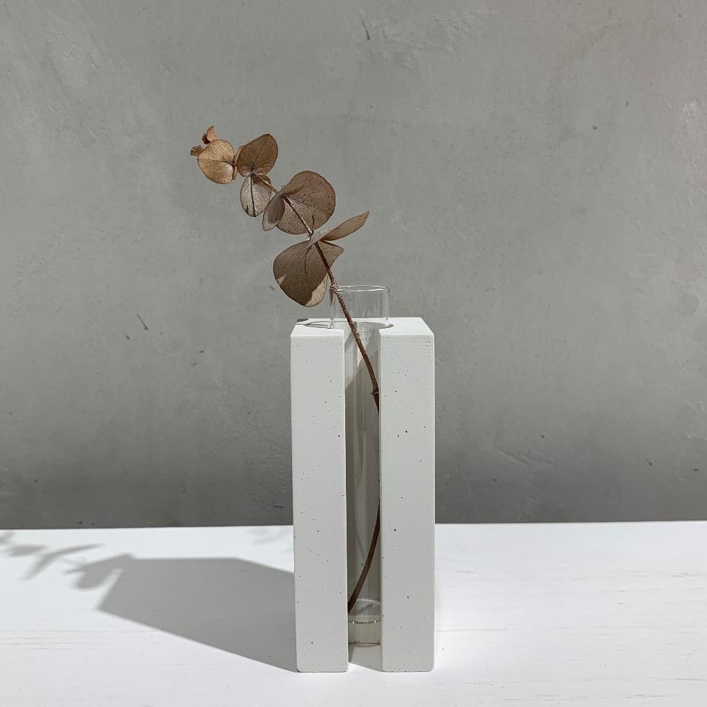 水泥花瓶   小型   正方   白
