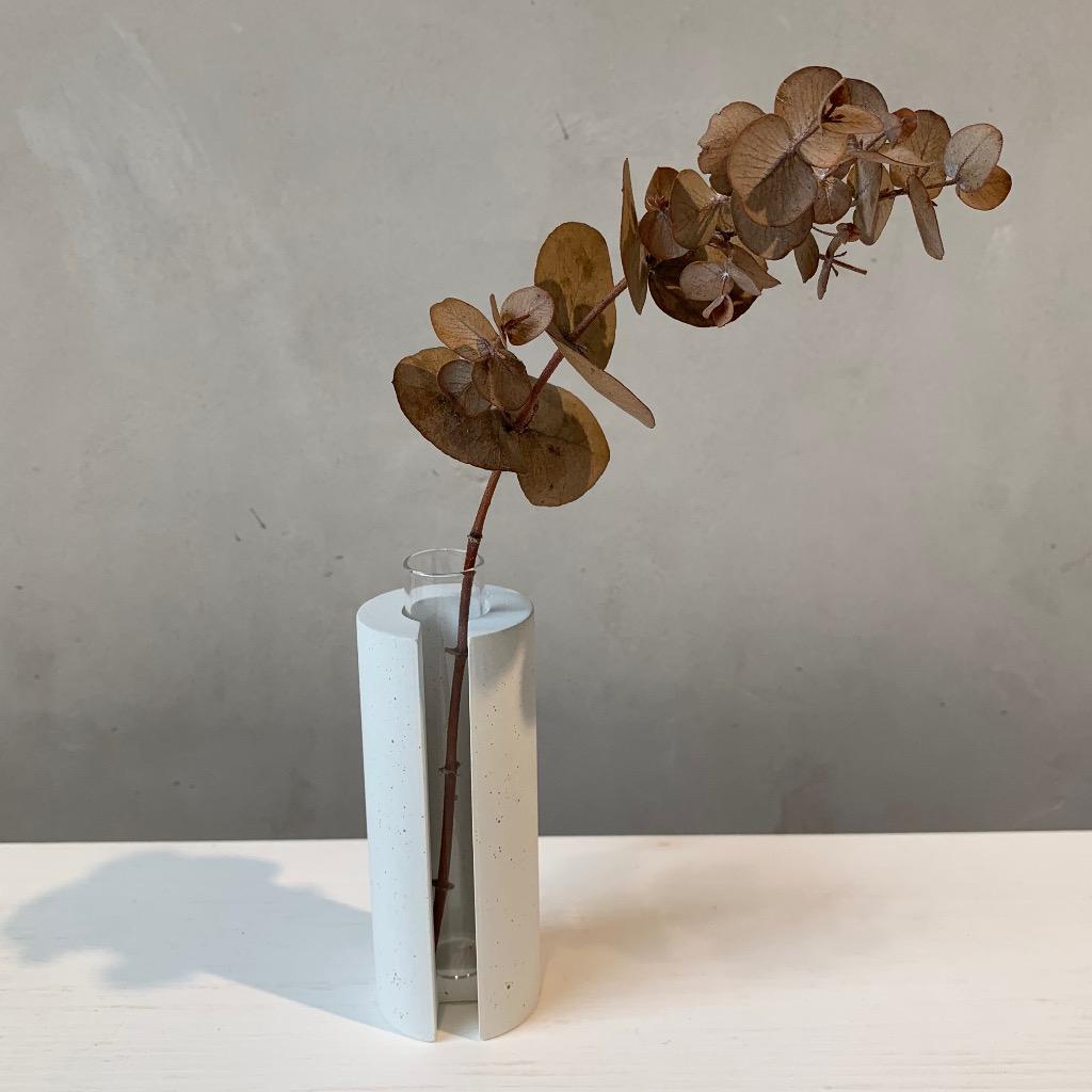 水泥花瓶   小型   圓   白
