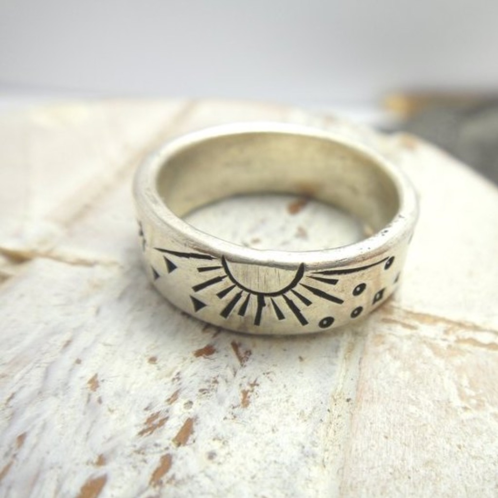 戒指 太陽圓舞曲925純銀戒