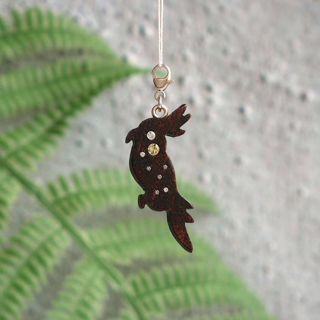 【Honeywood】木製吊飾 》》鸚鵡。吊飾 禮物訂製