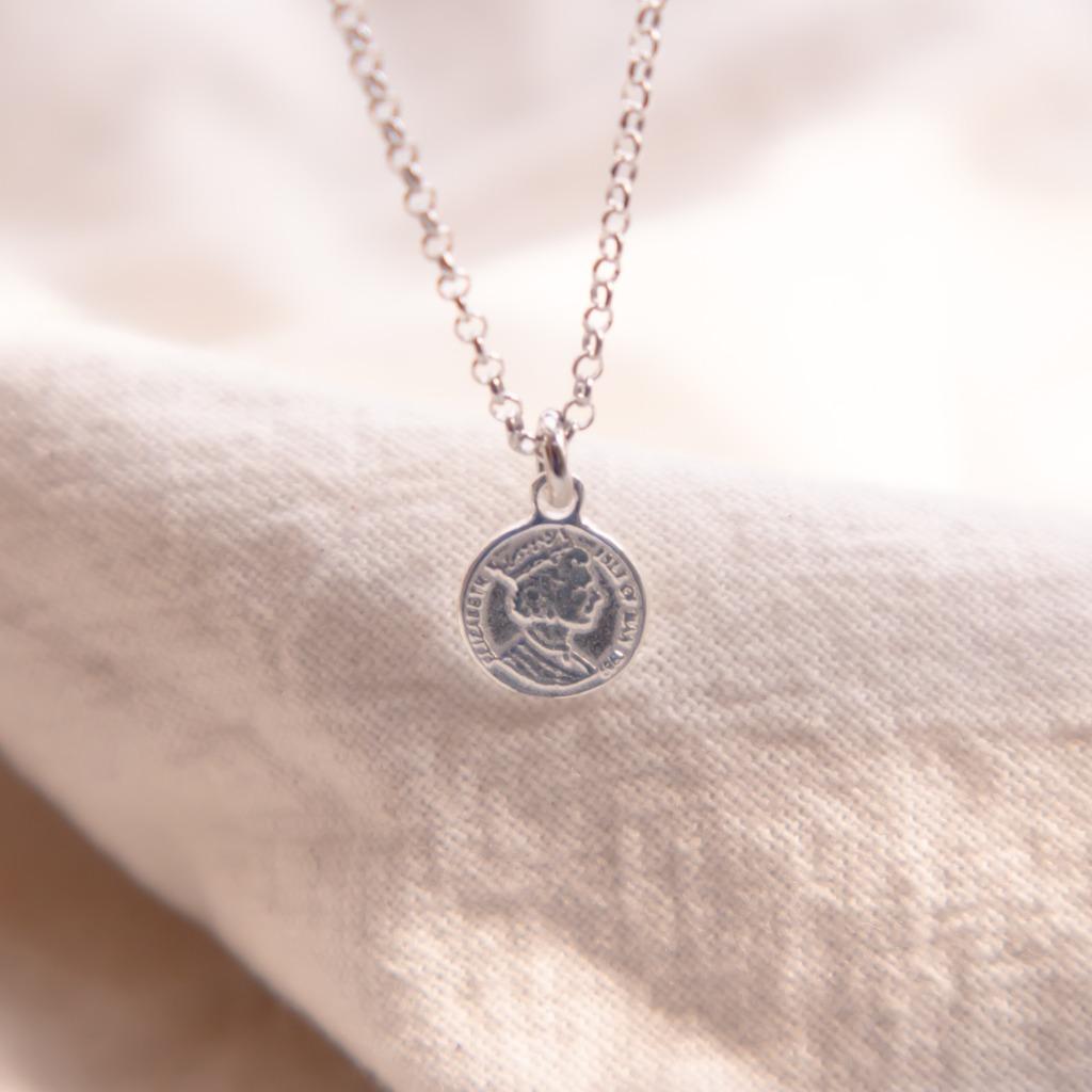 [433 Studio] 925 silver 女皇頭銀錢幣 - 頸鏈