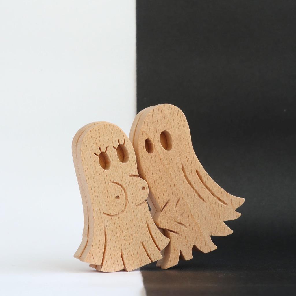 手工木製磁合擺設 木質模型 興奮鬼 禮物訂製