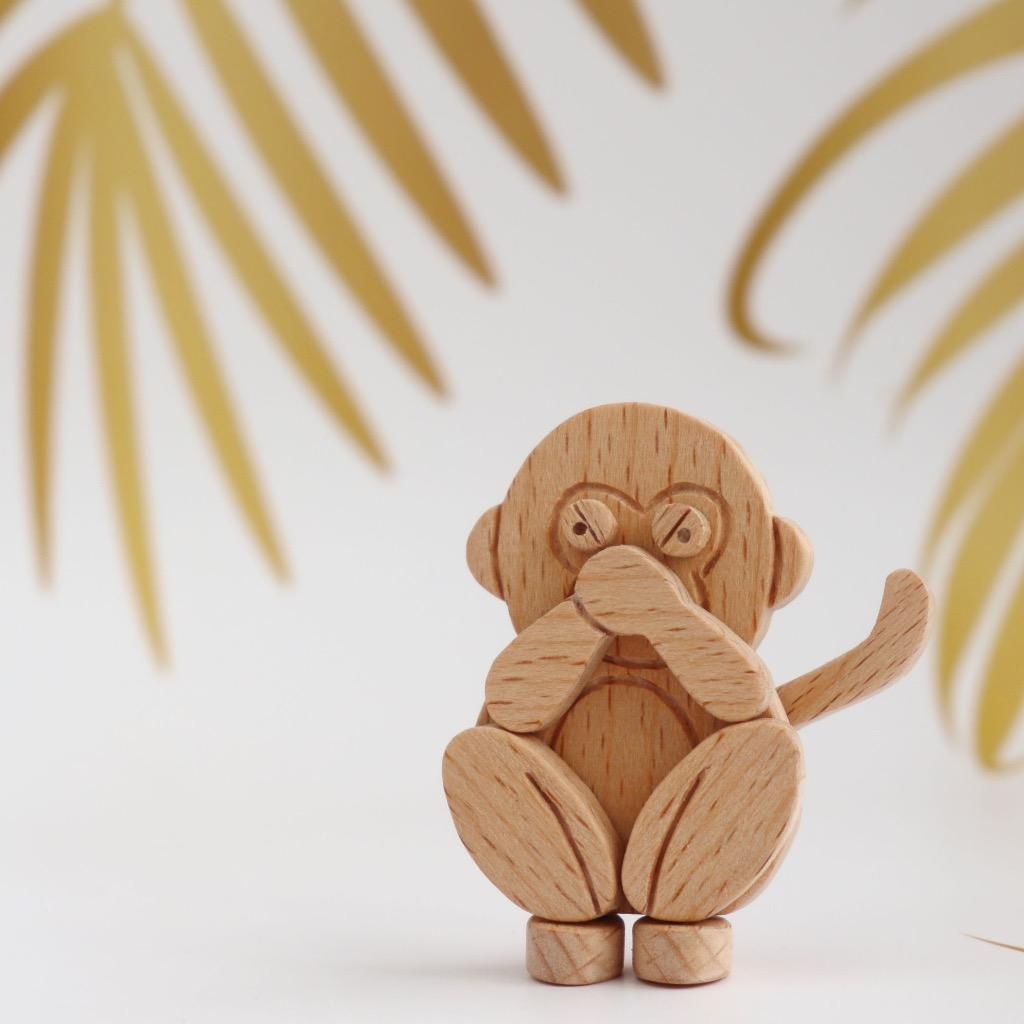 手工木製磁合擺設 木質模型 三猿 - 非禮勿說 禮物訂製