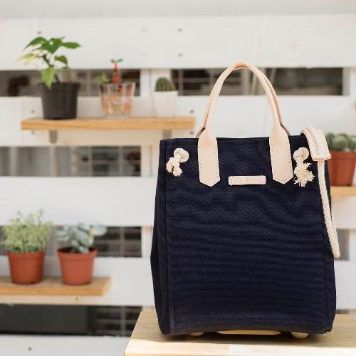 三用帆布背包 (深藍色、普通版)