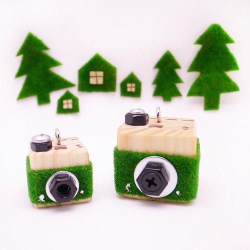 小樹,木相機項鍊&鑰匙圈