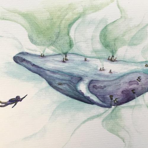 抹香鯨的災難  明信片畫作