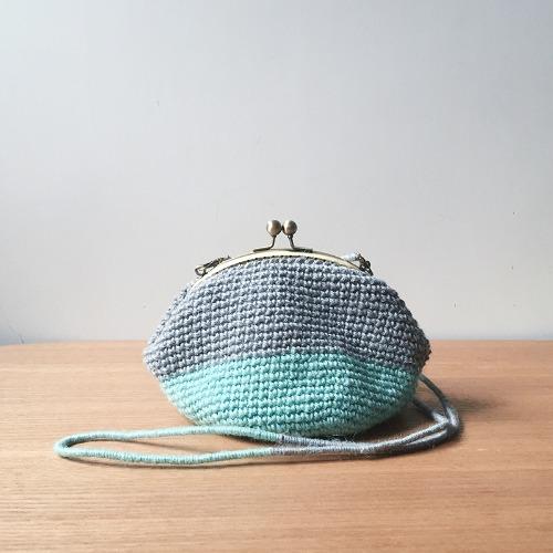 口金袋 | 麻線勾織 | 斜背