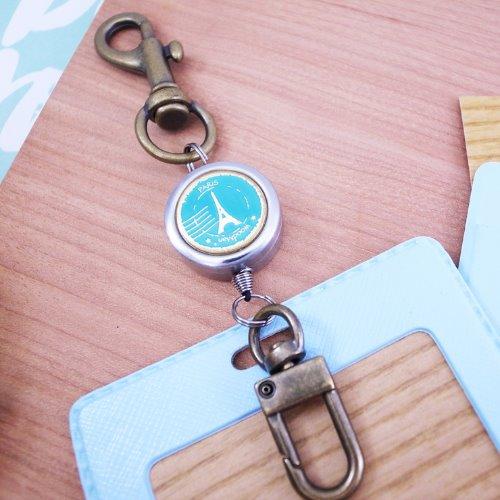 巴黎小旅行,鉤式不鏽鋼伸縮票卡夾