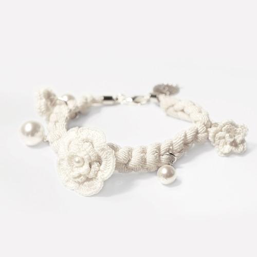 鉤織手繩素材包 / Flower Crochet Bracelet