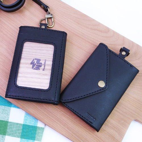 MUMU木木識別證,手工皮革(黑色)