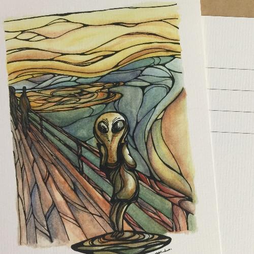羅茲威爾的吶喊  明信片畫作