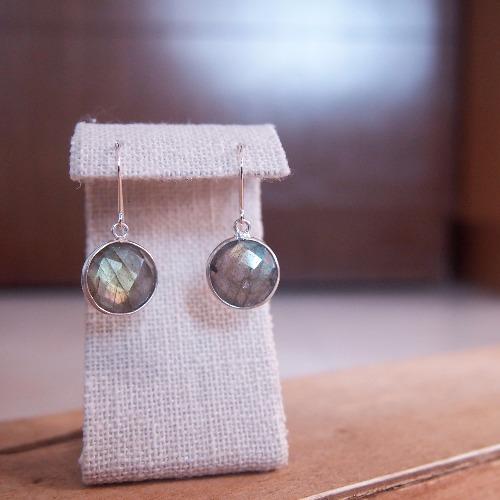 天然拉長石【靈感的月亮】耳環