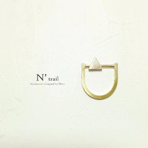 【N' trail】結構重組系列 - 活動小三角形黃銅戒指