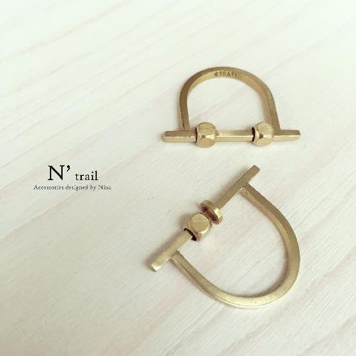 【N' trail】結構重組系列 - 黃銅珠活動結構戒指