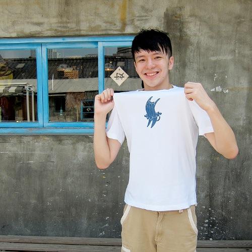 純白的你 – 藍染中性Tshirt