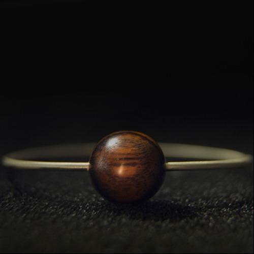 【Hylé Design Macau 】 ORB-it飾品系列木X白銅項鍊(Halo 光環)