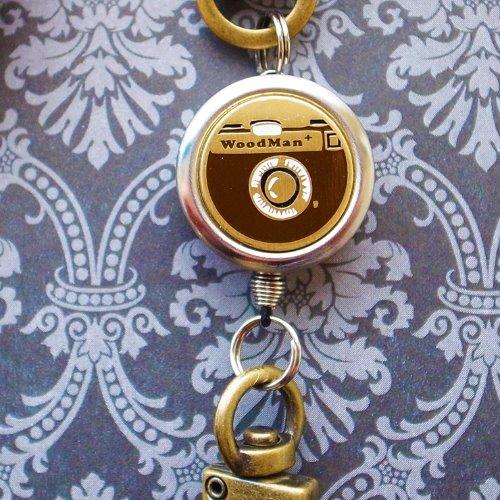 復古相機,鉤式不鏽鋼伸縮票卡夾