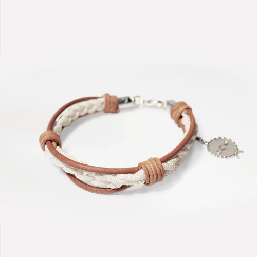 鉤織皮藝手繩素材包 / Leather Crochet Bracelet