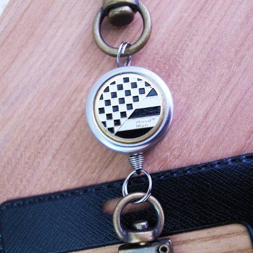 黑白卓别林,鉤式不鏽鋼伸縮票卡夾